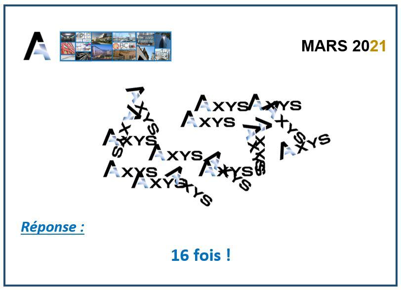 Réponse - Mars 2021