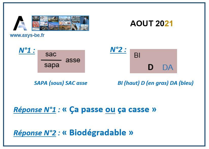 Réponse - Aout 2021